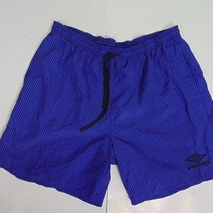 Vintage Umbro Men L Soccer Shorts Athletic Running